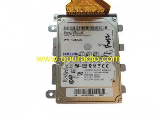 SAMSUNG HARD DISK DRIVE HM031HC 30GB PN 1932020 con datos de mapas para chrysler Dodge NTG4 RE1 Radio Media Nav Bluetooth car GPS audio de EE. UU. Can