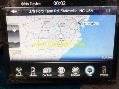 Placa madre de la placa base con datos MAP para Dodge Ram 1500 2500 3500 VP4 Radio Car Navigation Audio Bluetooth Media